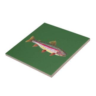 Rainbow Trout Fish Ceramic Tile