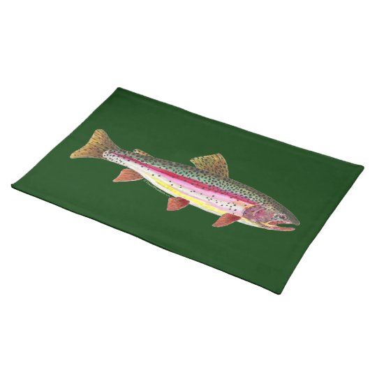 Rainbow Trout Fish Cloth Placemat
