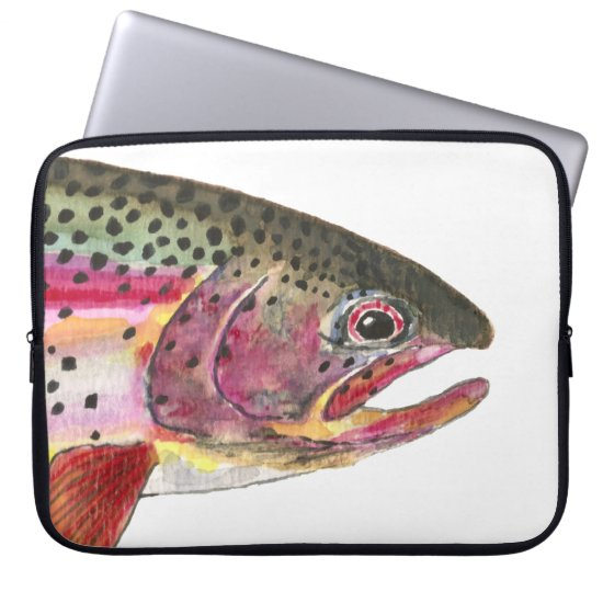 Rainbow Trout Fish Computer Sleeve