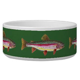 Rainbow Trout Fish Dog Bowl