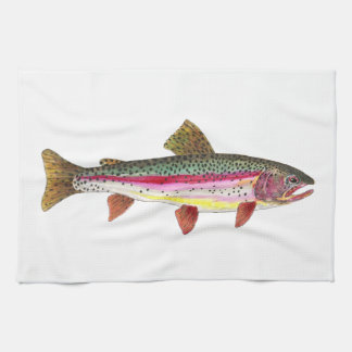 Rainbow Trout Fish Fishing Fly Fisherman Angler Hand Towel