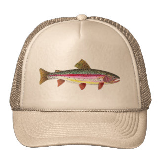 Rainbow Trout Fish Mesh Hats