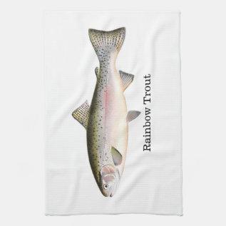 Rainbow Trout Fish Kitchen Towel at Zazzle