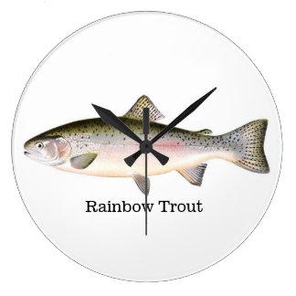 Rainbow Trout Fish Large Clock