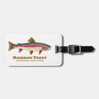 Rainbow Trout Fish Luggage Tags