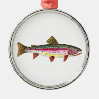Rainbow Trout Fish Metal Ornament