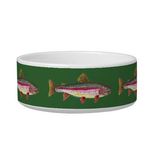 Rainbow Trout Fish Pet Water Bowls