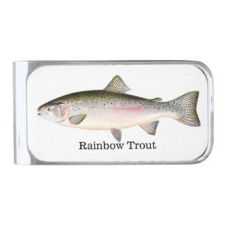 Rainbow Trout Fish Silver Finish Money Clip