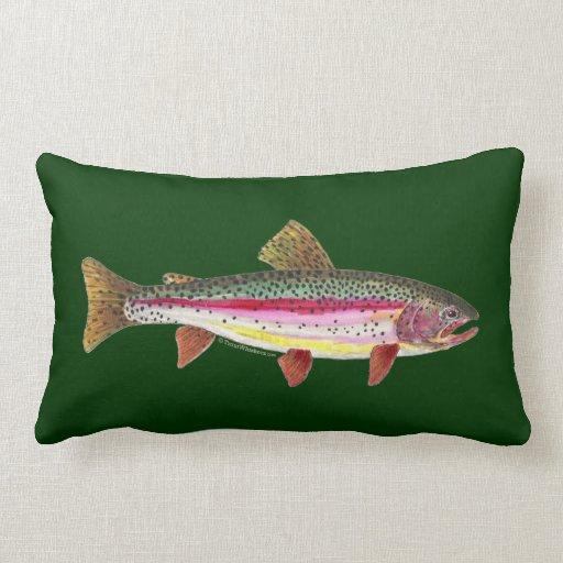 Rainbow Trout Fish Throw Pillows