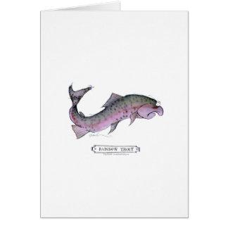 Rainbow Trout fish, tony fernandes Greeting Card