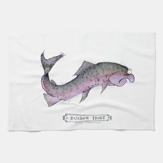 Rainbow Trout fish, tony fernandes Hand Towel