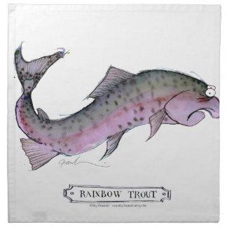 Rainbow Trout fish, tony fernandes Napkin