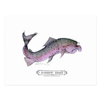 Rainbow Trout fish, tony fernandes Postcard