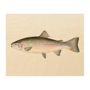 Rainbow Trout Fish Wood Wall Art