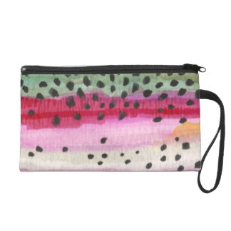 Rainbow Trout Fishing Wristlet Clutch