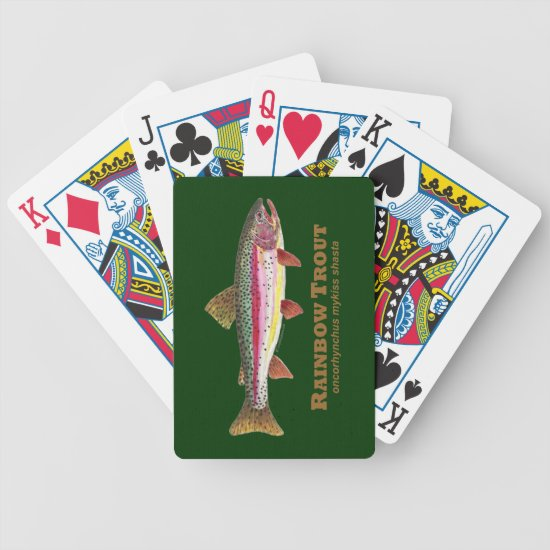 Rainbow Trout Fishing Bicycle Playing Cards