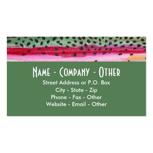 Rainbow Trout Fishing Business Card Templates