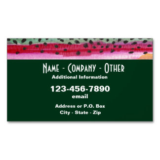 Rainbow Trout Fishing Business Card Magnet