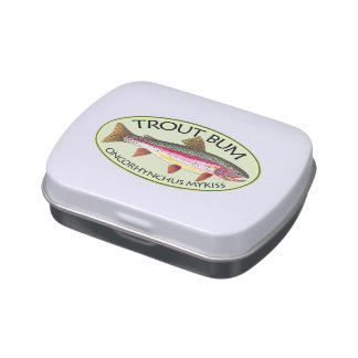 Rainbow Trout Fishing Jelly Belly Candy Tin