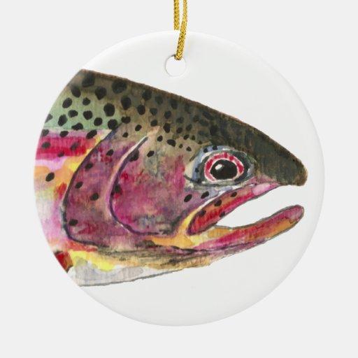 Rainbow Trout Fishing Christmas Ornaments
