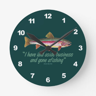 Rainbow Trout Fishing Wallclock