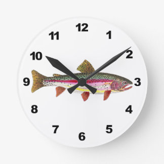 Rainbow Trout Fishing Round Clocks