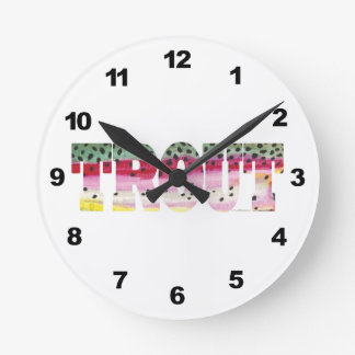 Rainbow Trout Fishing Wall Clocks