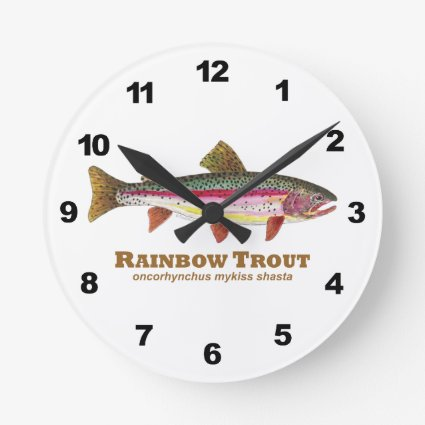 Rainbow Trout Fishing Clocks