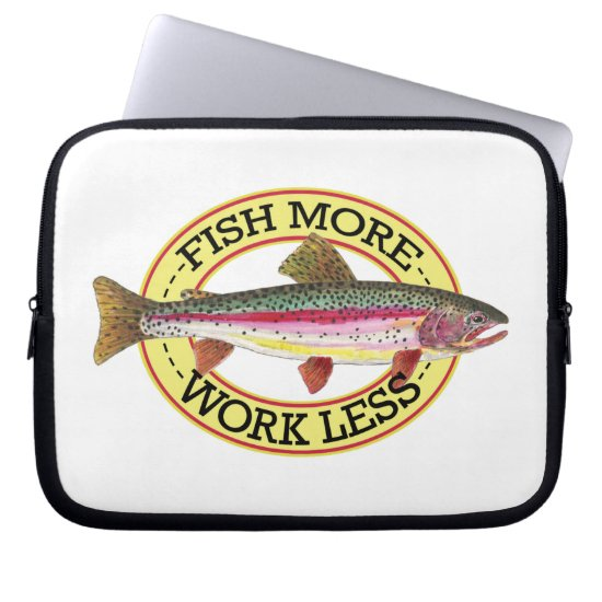 Rainbow Trout Fishing Computer Sleeve