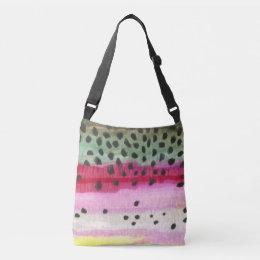 Rainbow Trout Fishing Crossbody Bag