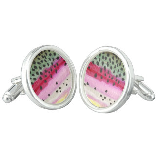 Rainbow Trout Fishing Cufflinks