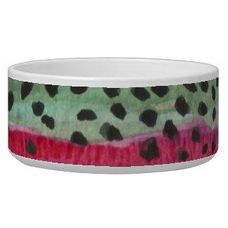 Rainbow Trout Fishing Dog Bowls