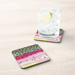 Rainbow Trout Fishing Drink Coaster