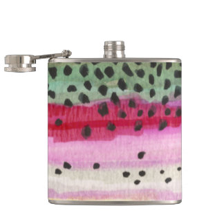 Rainbow Trout Fishing Hip Flask