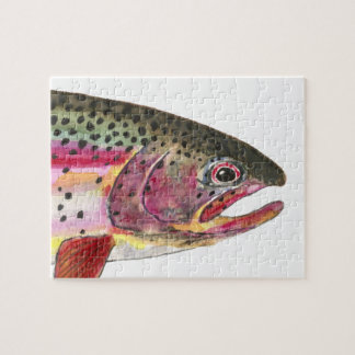 Rainbow Trout Fishing Jigsaw Puzzle
