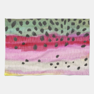 Rainbow Trout Fishing Kitchen Towel