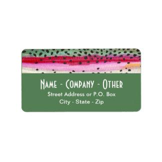Rainbow Trout Fishing Custom Address Labels