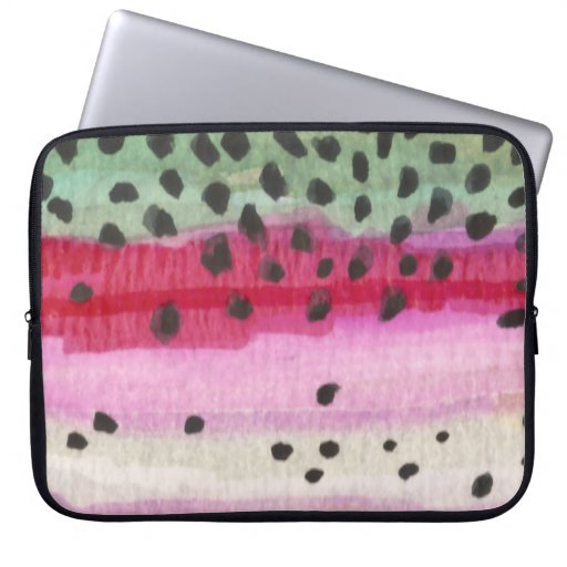 Rainbow Trout Fishing Laptop Sleeves
