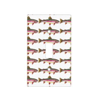 Rainbow Trout Fishing Light Switch Cover