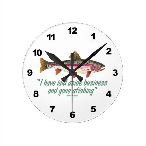 Rainbow Trout Fishing Round Wallclock