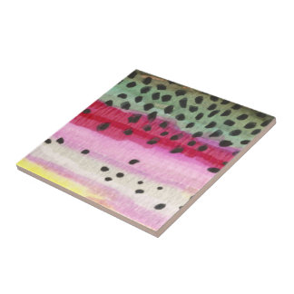 Rainbow Trout Fishing Tile