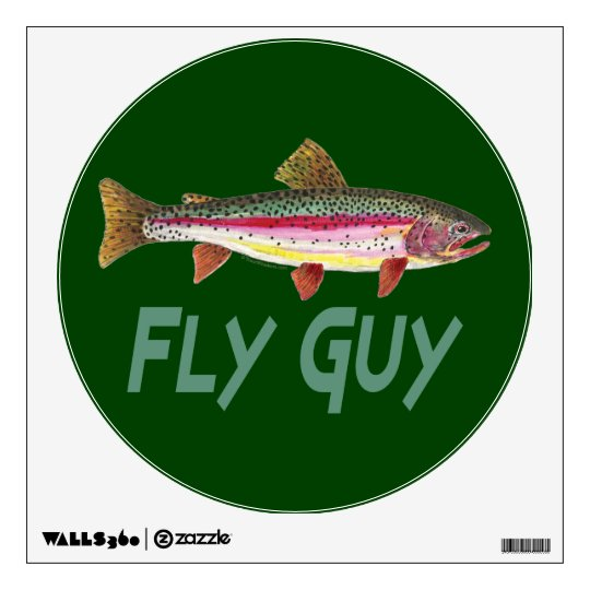 Rainbow Trout Fishing Wall Decal