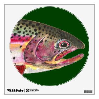 Rainbow Trout Fishing Wall Sticker