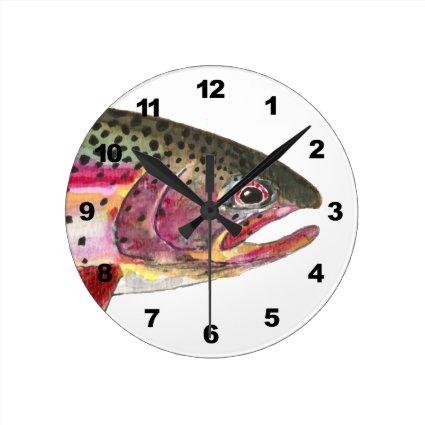Rainbow Trout Fishing Wallclocks