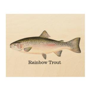 Rainbow Trout Fishing Wood Print