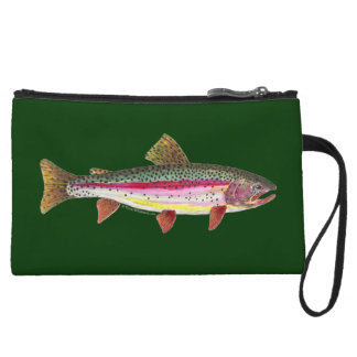 Rainbow Trout Fishing Wristlet Purse
