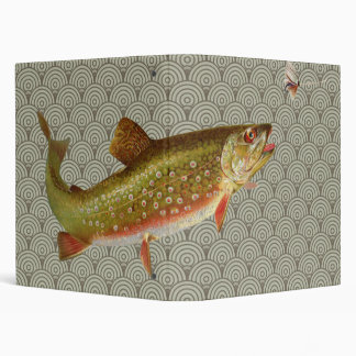 Rainbow trout fly fishing 3 ring binder