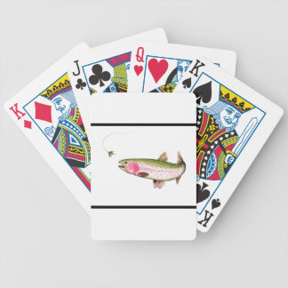 Rainbow Trout Fly Fishing Bicycle Playing Cards
