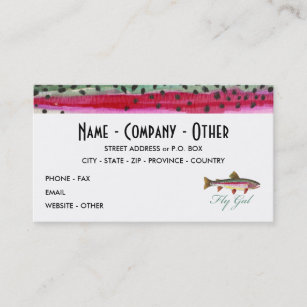 Fishing business cards templates zazzle rainbow trout fly fishing business card colourmoves