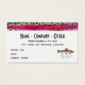 Rainbow Trout Fly Fishing Business Card